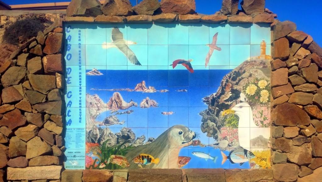 mural de azulejos de Cabo de Gata