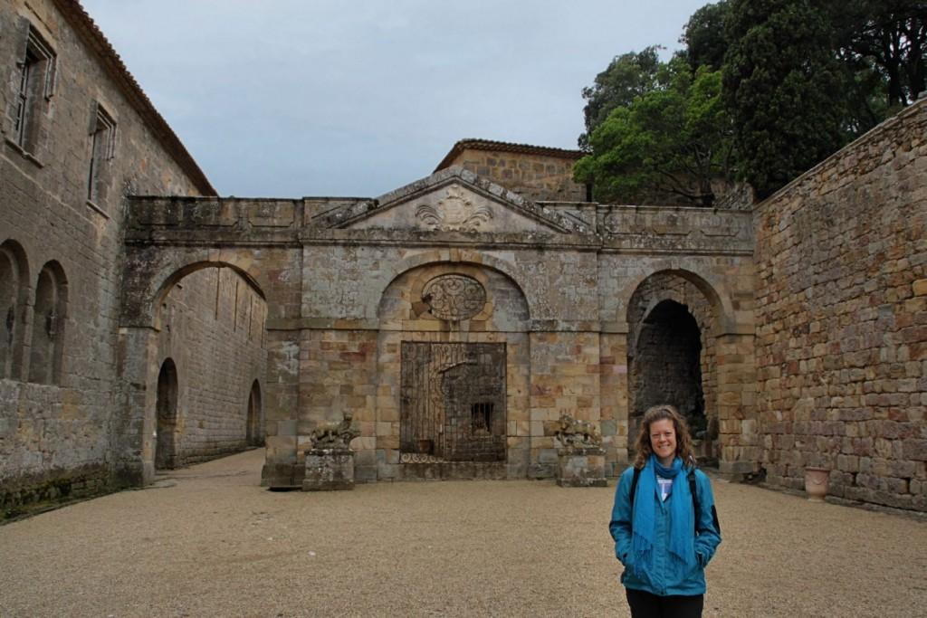 Patio de honor de la Abadía de Fontfroide