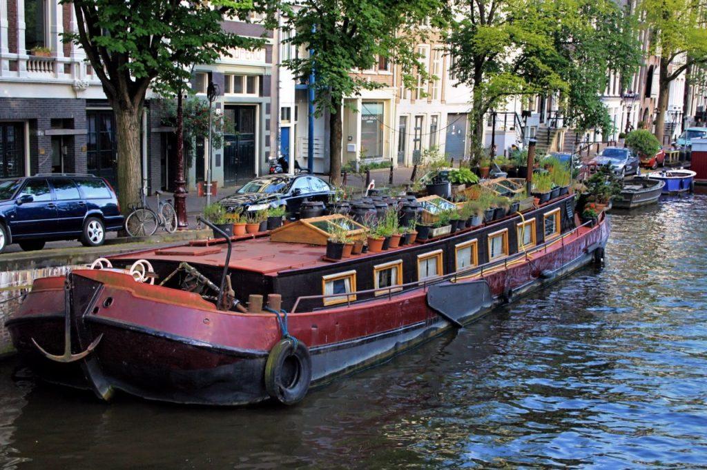 Casa flotante en Ámsterdam