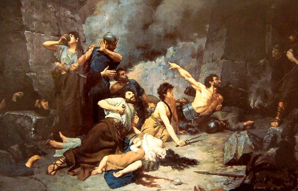 El último día de Numancia, del pintor español Alejo Vera Estaca (1880)