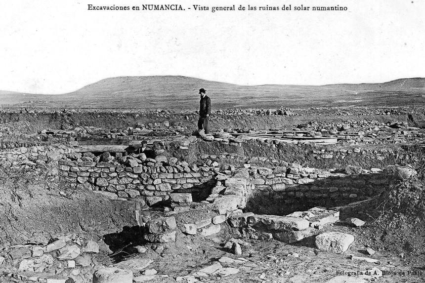 excavaciones en las ruinas de Numancia