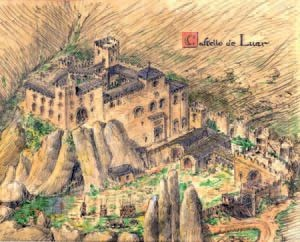 Recreación del Castillo de Loarre