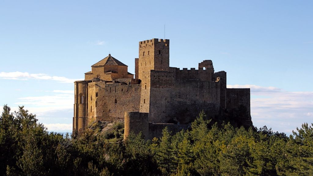 Castillo de Loarre visto desde el parking