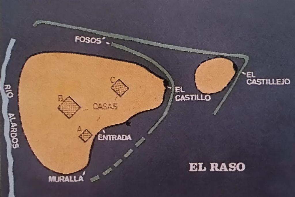 Mapa del Castro vetón de El Raso