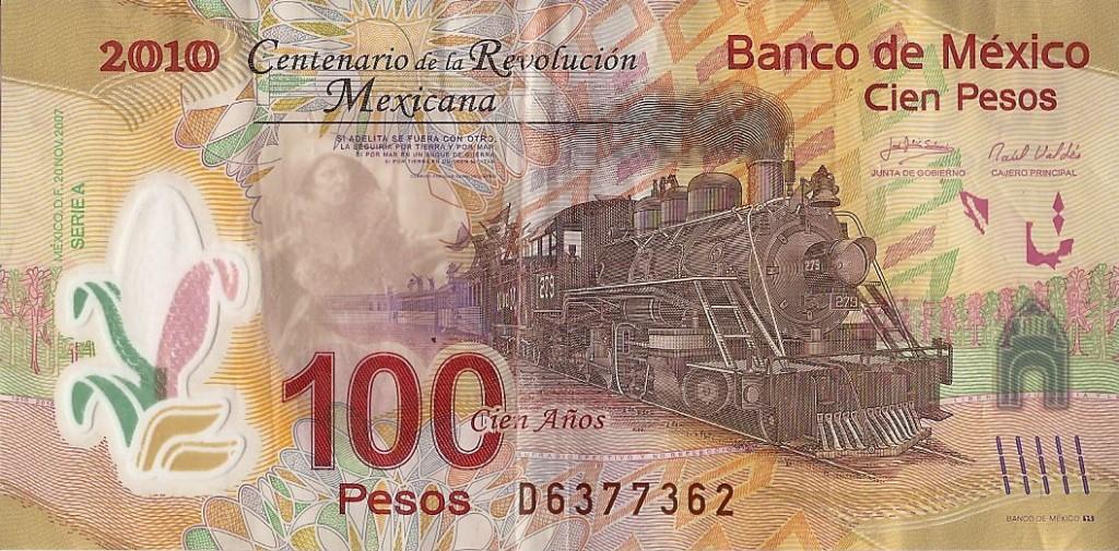 Billete de 100 pesos mexicanos