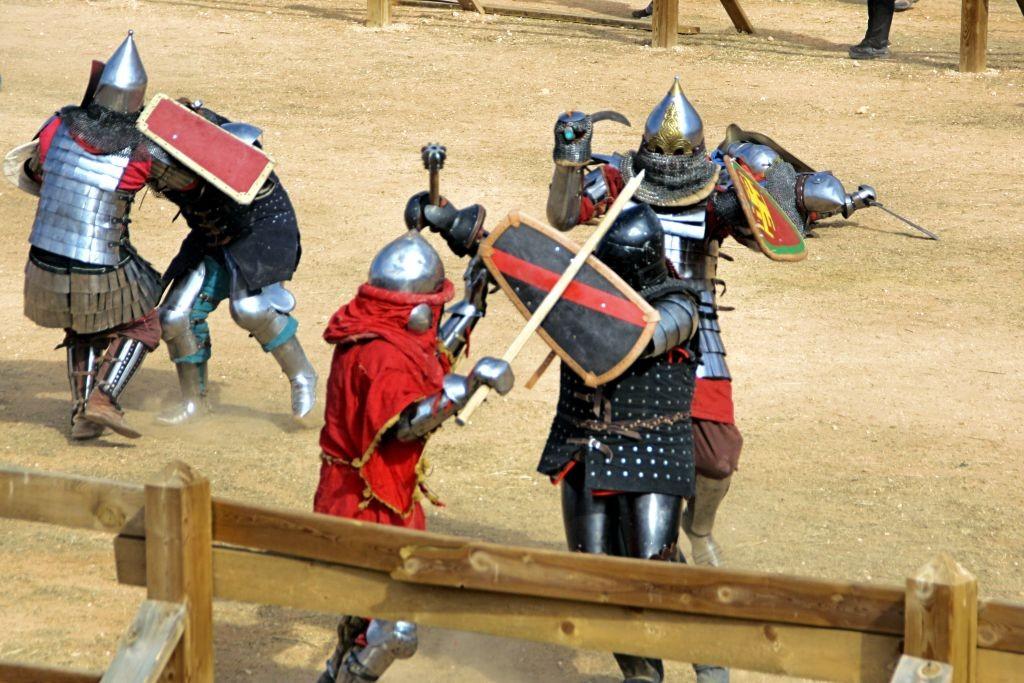 dura competición de Combate Medieval