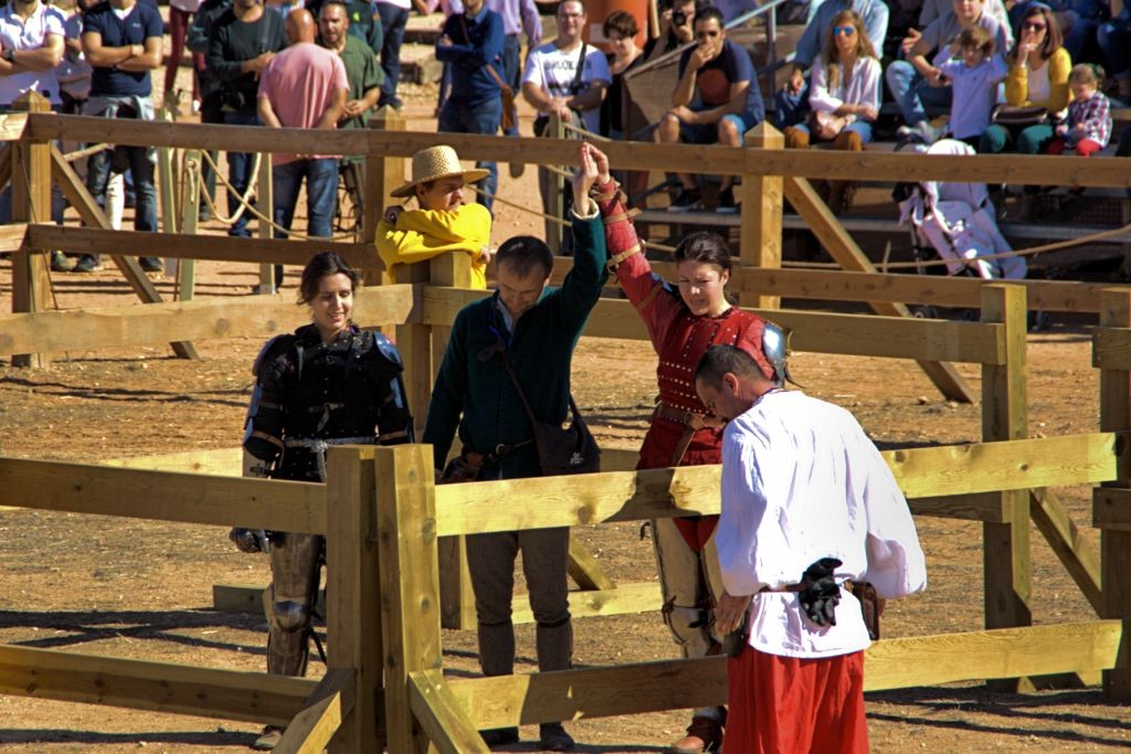 deportividad en Combate Medieval
