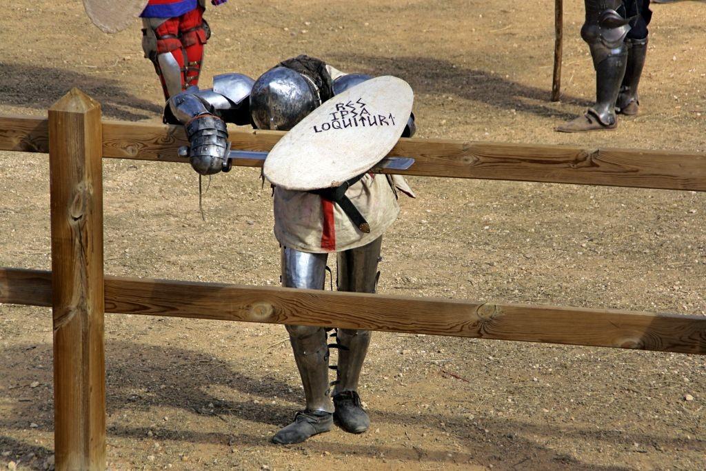 luchador de Combate Medieval agotado