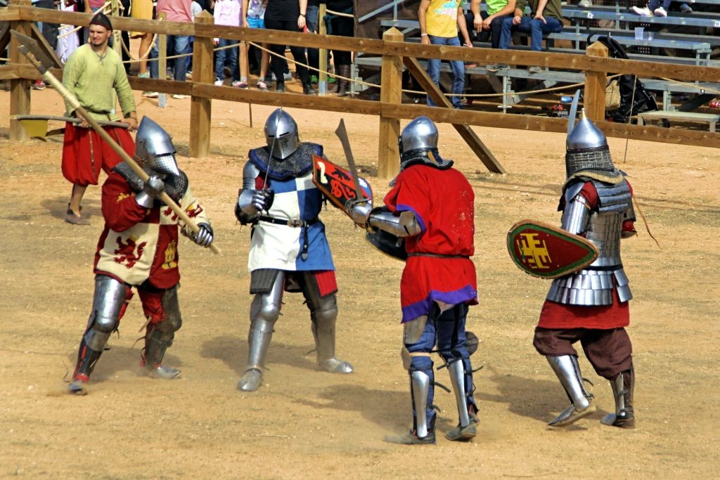 Luchadores de Combate Medieval