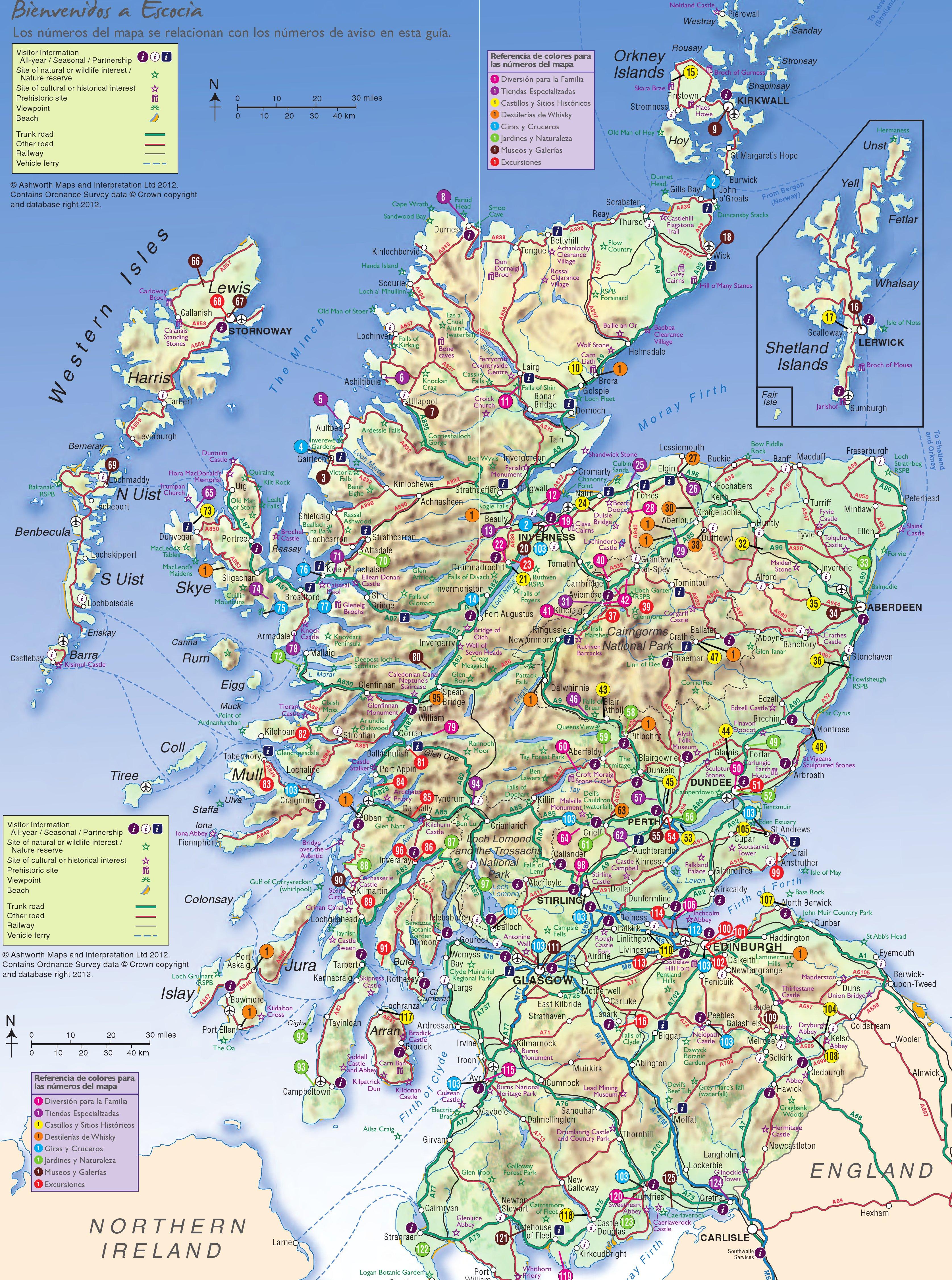 escocia mapa Consejos para viajar a Escocia   MAPA Y MOCHILA escocia mapa