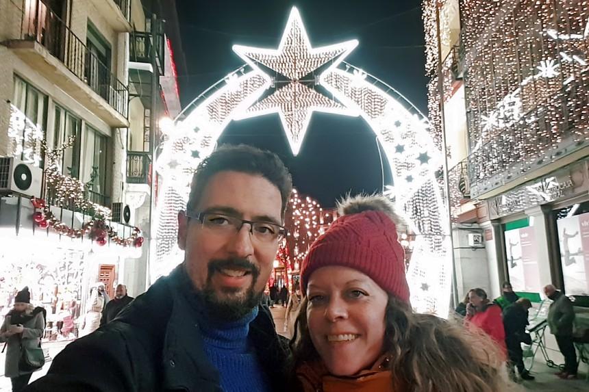 mapaymochila visitando Toledo en Navidad