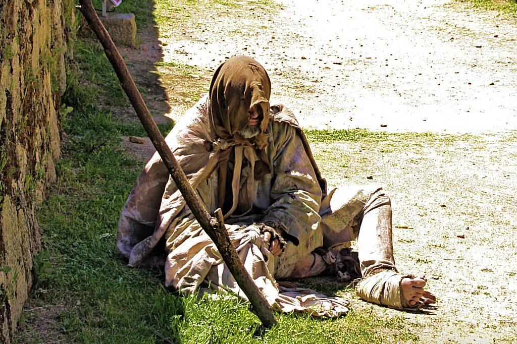La Adrada mendigo