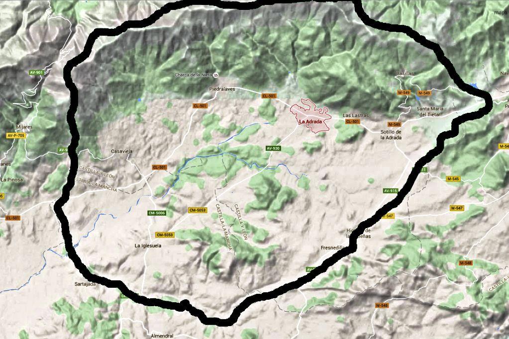 Mapa de Google maps e Inst. Geogr. Nacional