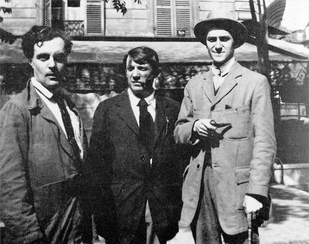 Foto de Modigliani, Picasso y André Salmon