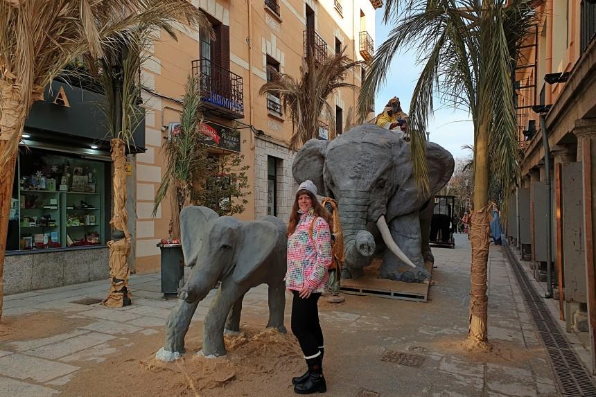 Elefantes en el Belén Monumental de El Escorial