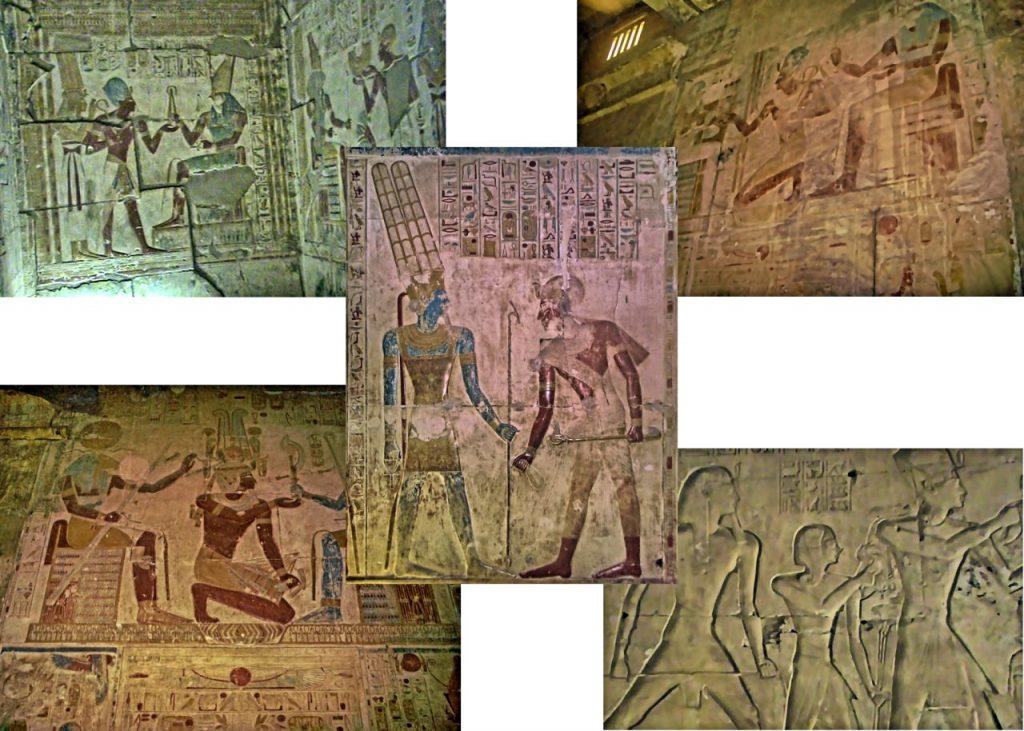 Jeroglíficos en el templo de Seti I en Abidos