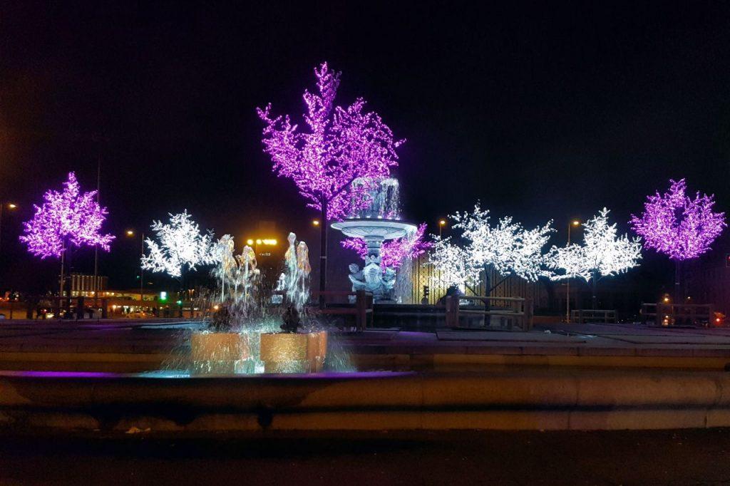 Luces de navidad en Atocha