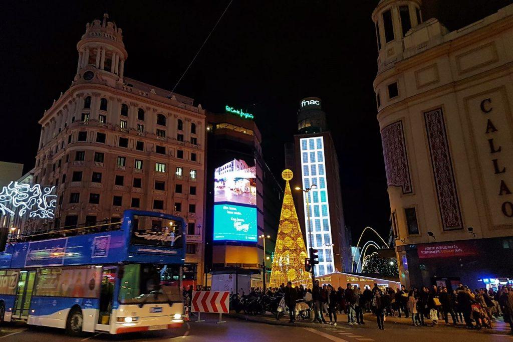 Naviluz, el bus de la Navidad de Madrid