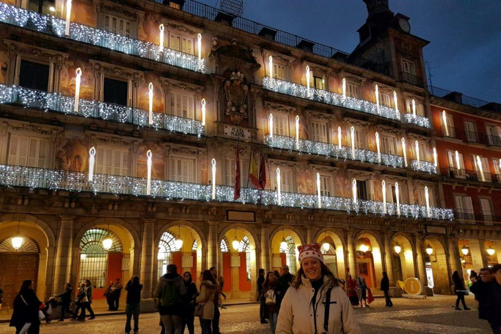 Iluminación navideña de la Plaza Mayor de Madrid