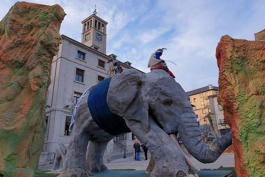elefante en el Belen del Escorial