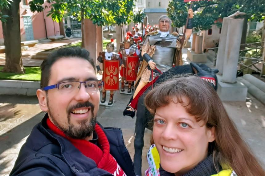 mapaymochila en el Belén Monumental de El Escorial