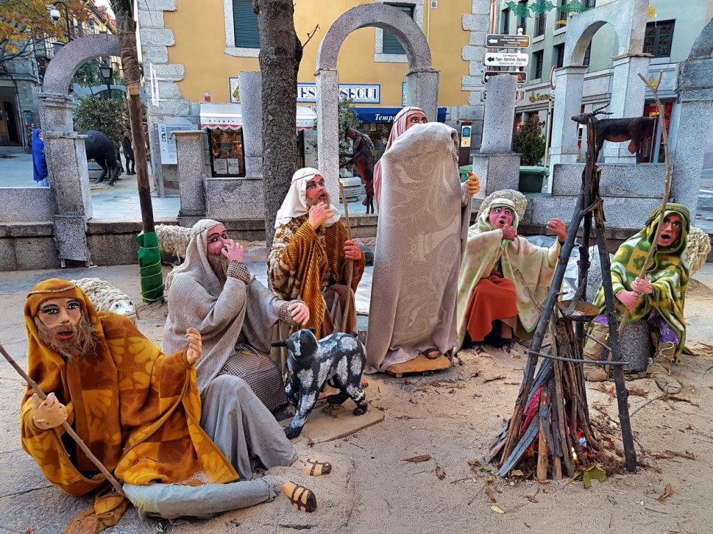 Anunciación a los pastores en el Belen Monumental