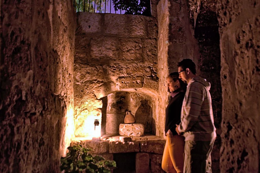 Celda del Monasterio de Santa Catalina de noche