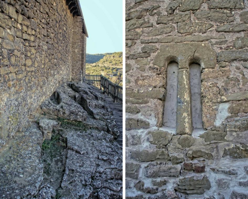 Necrópolis y detalle de la Iglesia de la Virgen de Liena