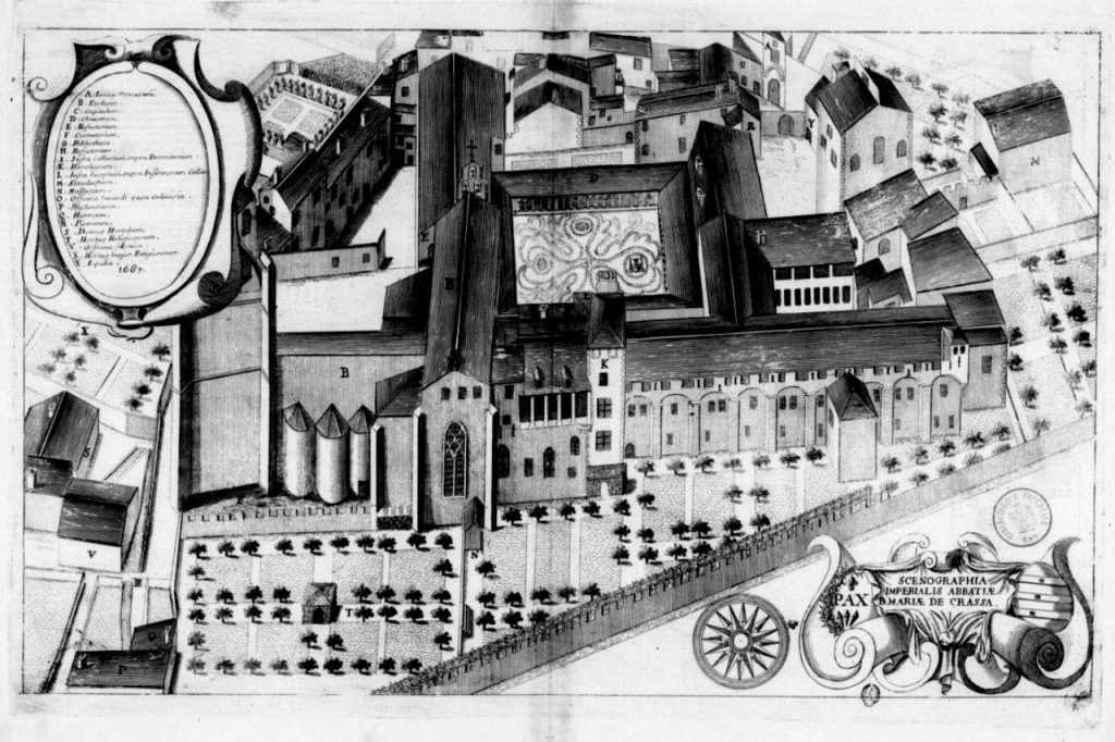 Abadía de Lagrasse en el s. XVII