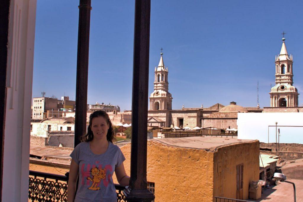 vistas de la catedral de Arequipa
