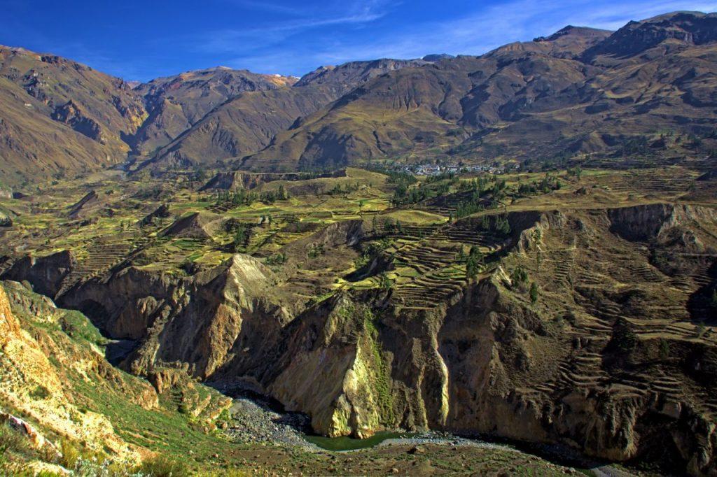Andenes o terrazas de cultivo en el Cañón del Colca