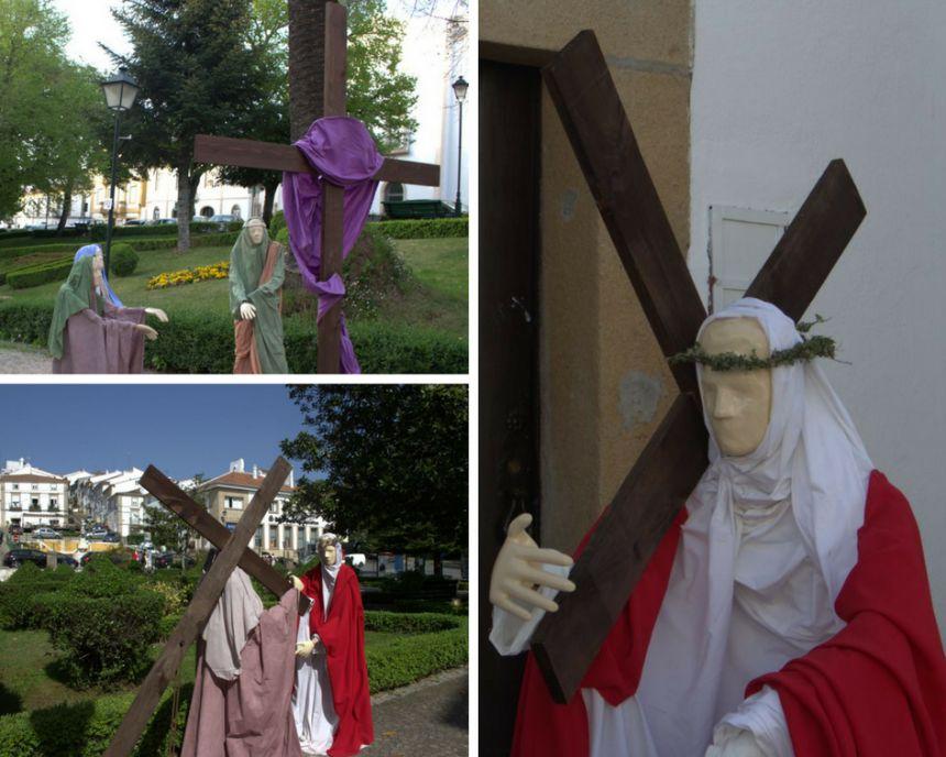 Estaciones del via crucis en Castelo de Vide