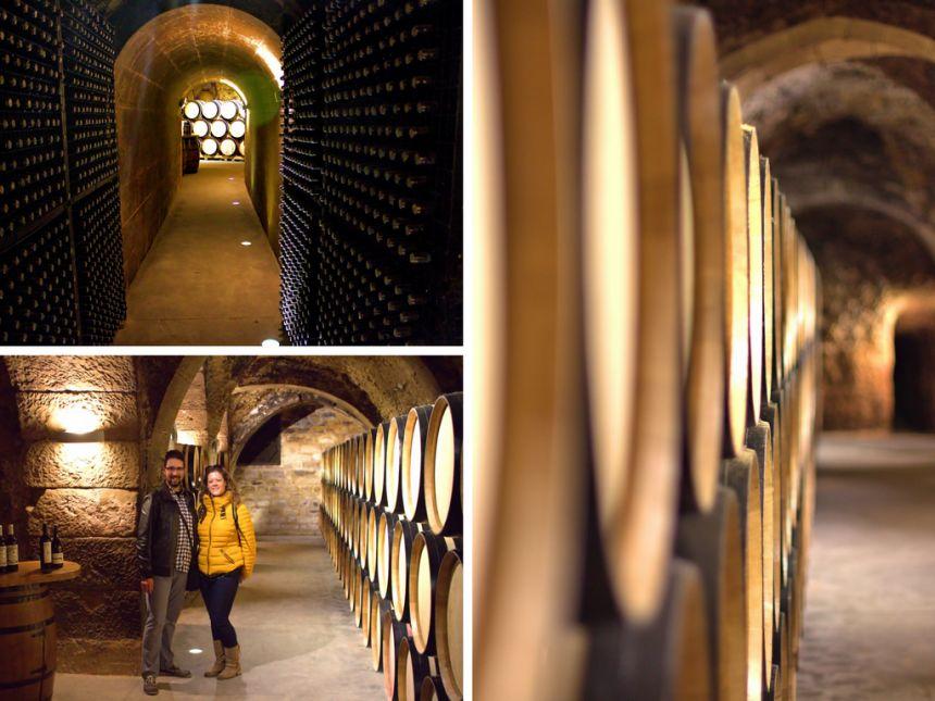 cuevas subterráneas bodegas Casa Primicia