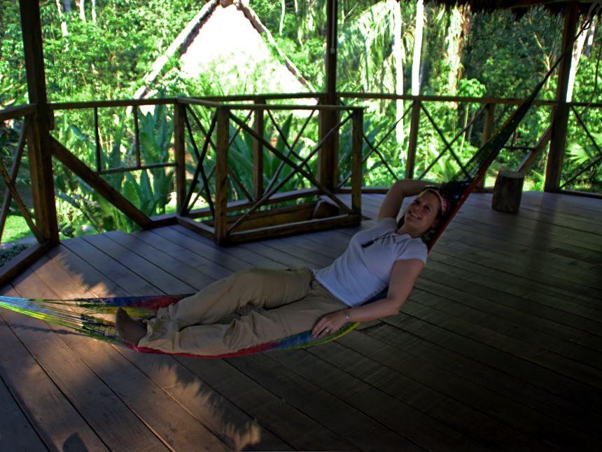 Hamacas en un Lodge de la selva peruana
