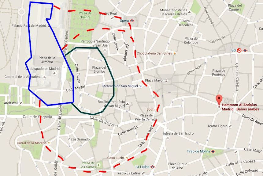 Mapa del Madrid árabe