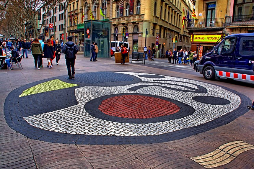 Mosaico de Joan Miró