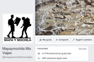 Facebook de mapaymochila