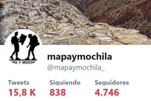 Twitter de mapaymochila