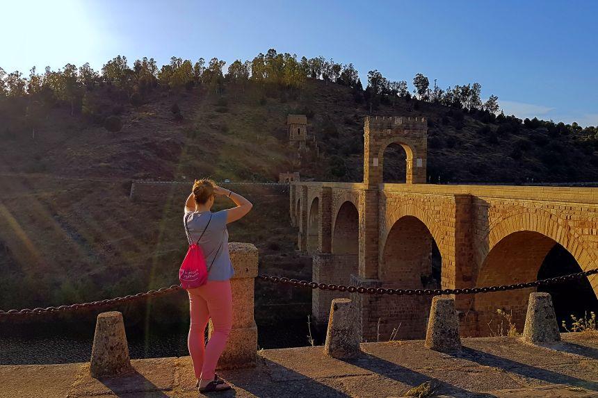 Puente de Alcántara al atardecer