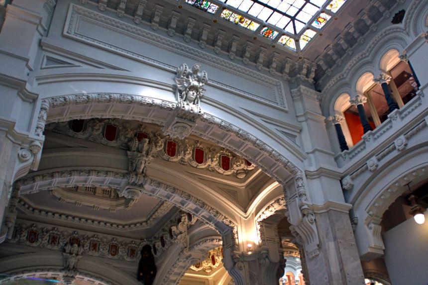 Interior del Palacio de Comunicaciones