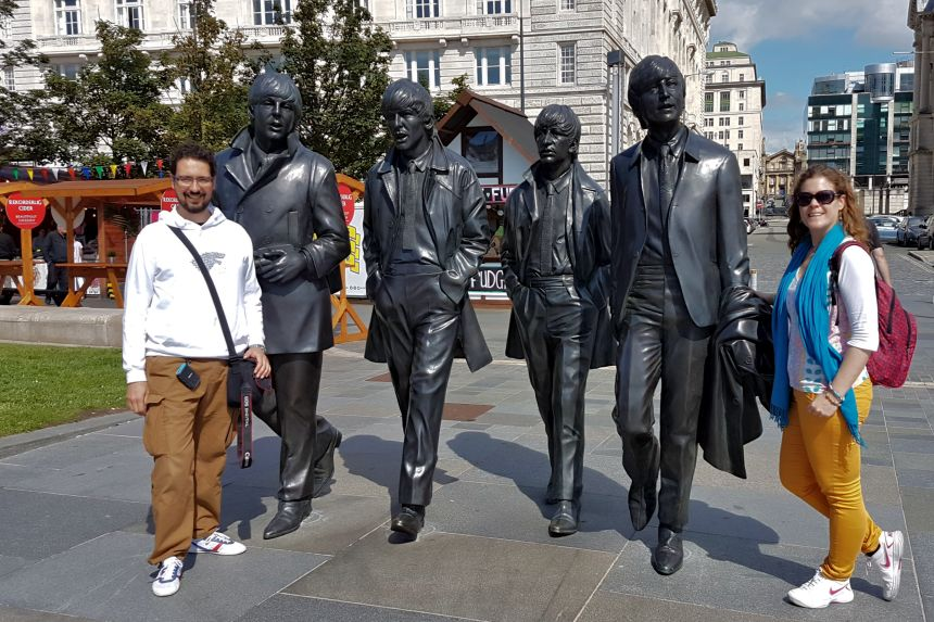 Estatua de Los Beatles en Liverpool