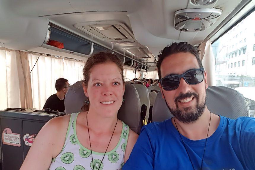 Autobús desde Zhangjiajie a Fenghuang