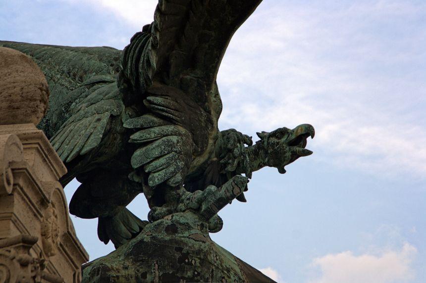 Escultura en el Castillo de Budapest