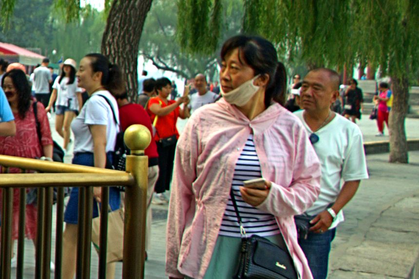 china con mascarilla