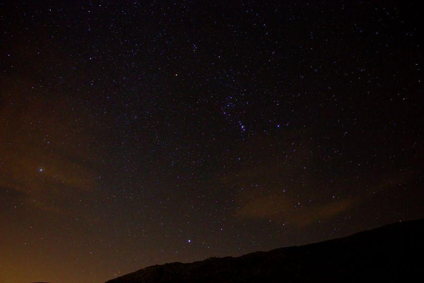 Cielo nocturno en Navaluenga