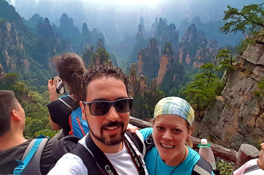 Mirador en Zhangjiajie