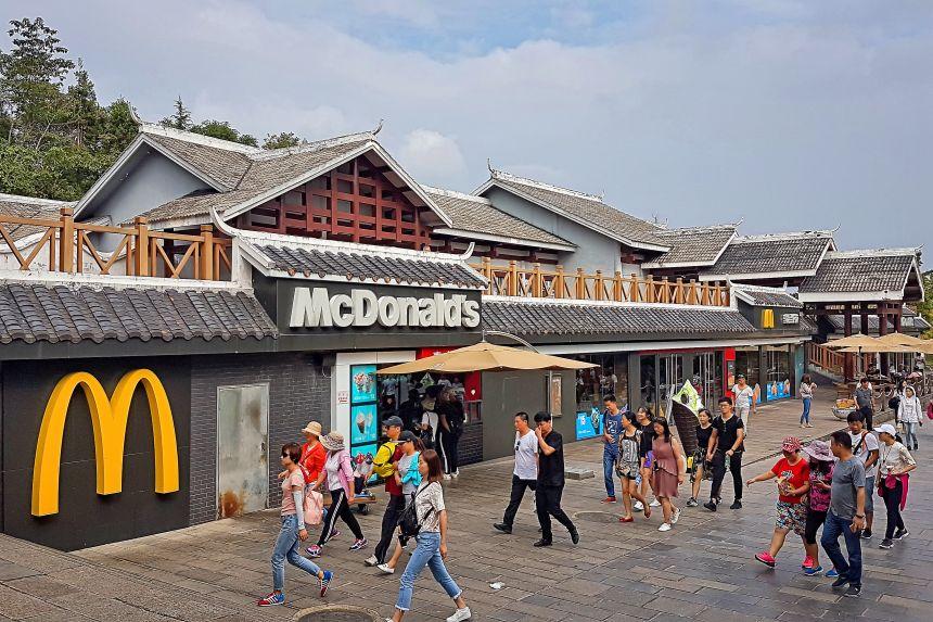 Restaurante de comida rápida en China