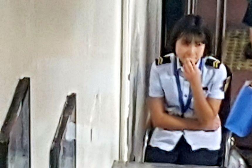 trabajadora del metro de beijing