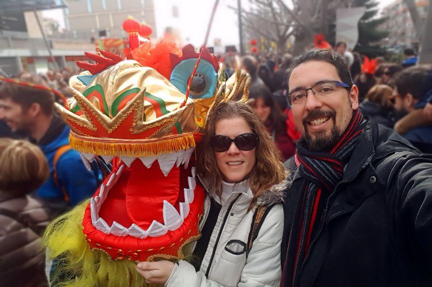 Celebración del año nuevo chino en Madrid