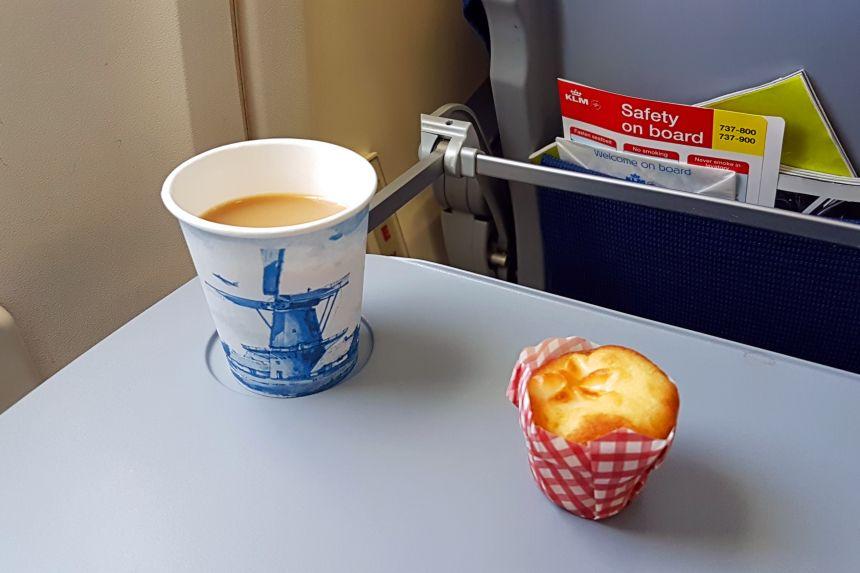 Café durante el vuelo